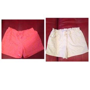 Girls lace shorts (2)pairs